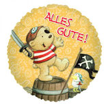 Piraten Alles Gute rund Folienballon