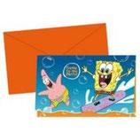SpongeBob Surf Einladungskarten