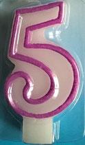 Zahlenkerze 5 Kuchenkerze