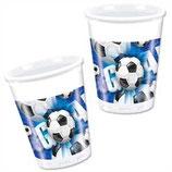 Fussball blau Partybecher