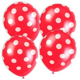 Punkte rot weiss Latexballons