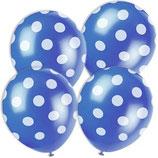 Punkte blau weiss Latexballons