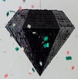 Piñata Diamant Schwarz