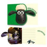 Shaun das Schaf Einladungskarten