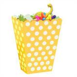 Punkte gelb weiss Geschenkebox