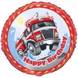 Feuerwehr rund Folienballon