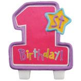 Kuchenkerzen 1st Birthday Girl