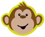 Affenbande Kopf Partyteller