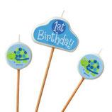1st Birthday Boy Schildkrötchen Kuchenkerzen