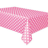 Punkte rosa weiss Tischdecke