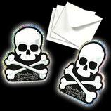 Halloween Totenkopf Einladungskarten