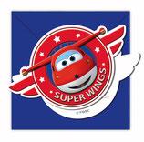 Super Wings Happy Einladungskarten