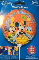 Mickey Mouse Mini Folienballon zum selber Aufblasen