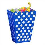 Punkte blau weiss Geschenkebox