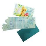 Tinkerbell blau Einladungskarten