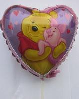Winnie Pooh Herz Mini Folienballon