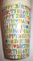 Happy Birthday Partybecher