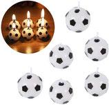 Fussball Kuchenkerzen rund