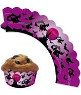 Hexe Muffin Cupcake Deko-Banderolle