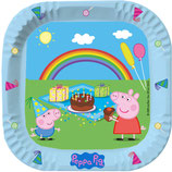Peppa Pig Partyteller eckig