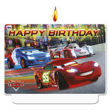 "Cars Neon ""Happy Birthday"" Kuchenkerze"