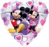 Mickey Mouse & Minnie Mouse Herz Folienballon