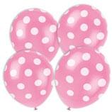 Punkte rosa weiss Latexballons