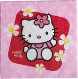 Hello Kitty Blumen Servietten