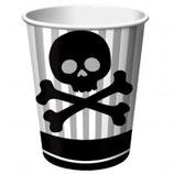 Piraten Totenkopf Partybecher