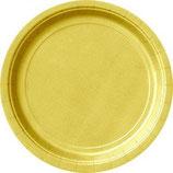 Uni Farben Gold Partyteller