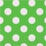 Punkte grün weiss Servietten
