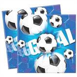 Fussball blau Servietten