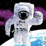 Weltall Astronaut Servietten klein