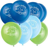 1st Birthday Boy Schildkrötchen Latexballons