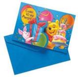 Winnie Pooh Geschenk Einladungskarten