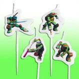 Ninja Turtles Mini-Figurenkerzen