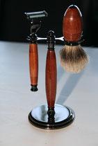 Rasierer Set - Bubinga