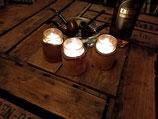 Teelichthalter aus Erle (pro Stück)