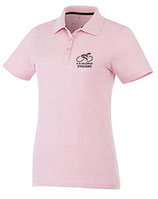 POLO MANCHES COURTES FEMME ROSE