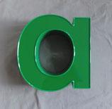 Vintage Leuchtbuchstabe a in grün