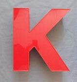 Vintage Leuchtbuchstabe K in rot