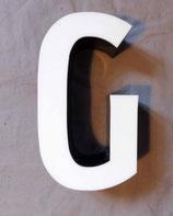 Vintage Leuchtbuchstabe G in weiß
