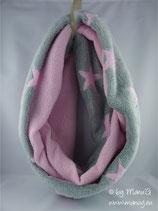 Winterloop Sterne rosa