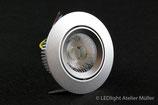 LED Einbauspot 230V (ohne Netzteil) 6W silber