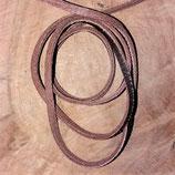 Echt runderleren koord bruin