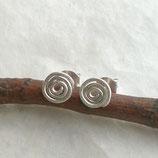 925 Silber Ohrstecker Spirale g873