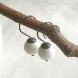 Weiße Howlith Ohrhänger 925 Silber geschwärzt d599