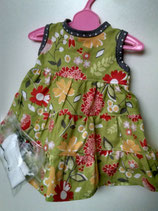 "2020-2  Green Floral sundress for American Girl Doll or 18"" doll."