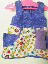 2020-9  Blue sundress with lilac socks