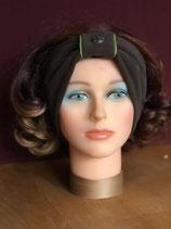 Stirnband, Braun-Grün